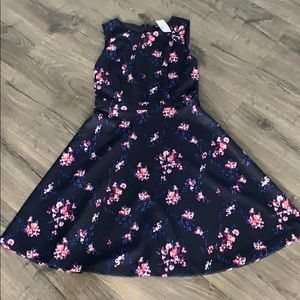 Navy floral dress - NWT